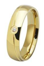 Bluelans® adapula TITANIUM baja batu cincin pernikahan polos Keemasan kami 9