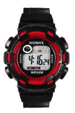 Bluelans Men's Waterproof Digital Multifunctional Alarm Mountaineer Wrist Watch Red