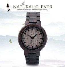 Bobobird Mens Design Full Wood Dial With Wooden Straps Fashion Bamboo Wood Quartz Watch(Brwon)