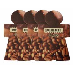 BonBon Dorfree 4Pcs Hanging Paper / Pengharum Mobil & Ruangan - Coffee