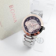 Bonia BN 2347-ER Jam Tangan Wanita Silver Rose Gold Stainless Steel