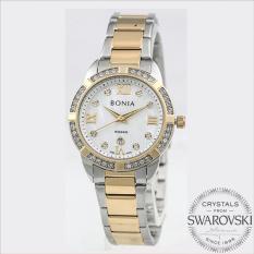 Bonia BN10278-2153S Jam Tangan Wanita Silver Gold Stainless Steel