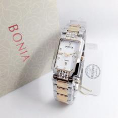 Bonia BN2117-ER Jam Tangan Wanita Silver Rose Gold Stainless Steel