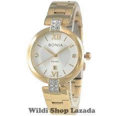 Bonia BNB10274-2213 Jam Tangan Wanita Stainless Steel Gold