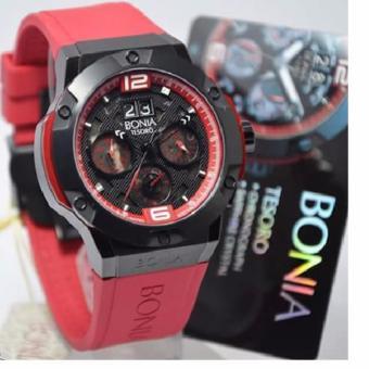 ... DATE ON RUBBER STRAP BODY STAINLESS STEEL. BONIA-Jam tangan pria casual dan fashion BNB10128-1765LE - Chronograph Crono aktive &