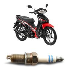 Bosch Busi Sepeda Motor Honda Revo UR4A130 Irridium - 1 Buah - Putih