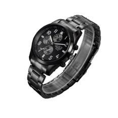 BOSCK Men's Business Casual Sports Waterproof Strip Waterproof Quartz Watches (Black)