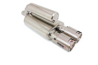 Brexx Masterpiece Knalpot Mobil Silent VH Twin Omega S-VHO-01 - Silver
