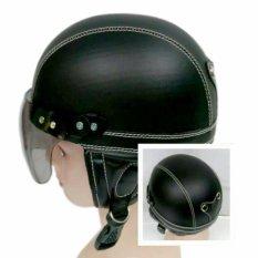 Broico Helm Anak Chip/retro/sincan lucu usia 1 - 4 tahun MotifPolos Hitam