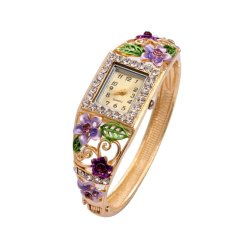 BS1981 New Women Watches Luxury Crystal The Flower Watch (Intl)