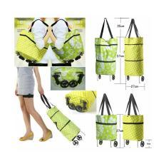 Buy 1 Get 1 Shopping Bag 2in1 (bisa jadi trolley & tas bahu)
