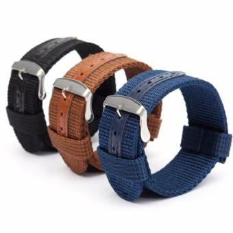 Buy 1 Get 3 Twinklenorth 22mm Nylon Nato Strap Nylon Military Watch Band Strap Watchband NATO-062 - intl