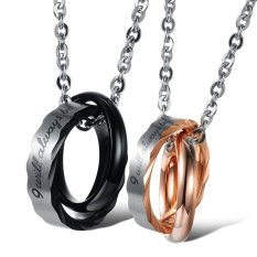 BuyBuy Jewelry Stainless Steel Macthing Couple Necklaces