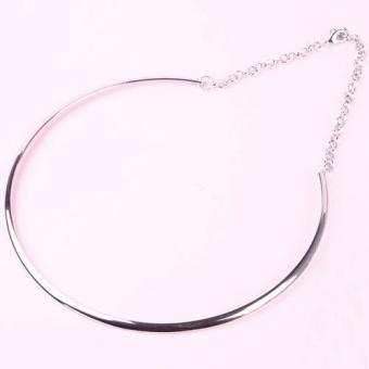 BUYINCOINS Fashion Gothic Metallic Plated Round Metal Choker Bib Collar Necklace Chain