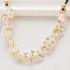 BUYINCOINS Pendant Chain Crystal Choker Chunky Bib Necklace Women Fashion Charming Jewelry