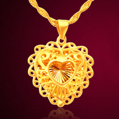 CADIS 24K Gold With The True Gold Plated Romantic Heart Ladies Necklace - Intl