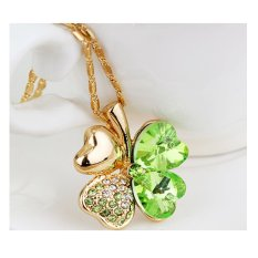 Cannice Lucky Green Four Leaves Clover Necklace