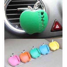 Cantik Imut Apple Bentuk Mobil AC Ventilasi Udara Freshener Fragrance Parfum Biru