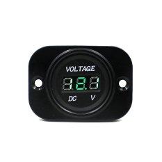 Car Auto Motorcycle DC 12.24V Digital Green LED Display Voltmeter Meter Black