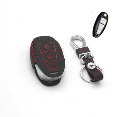 Car Leather Smart Key Cover For Suzuki Vitara S-CROSS 2 Button Smart Remote Key