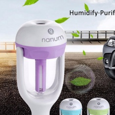 Car Styling Power Protection Humidifier Aromatherapy Essential Oil Diffuser Air Purify - Purple - intl