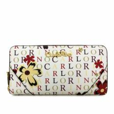 Carlo Rino Zip Around Wallet 0303678-503-00 (White)