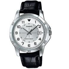 Casio Analog Watch Jam Tangan Pria - Hitam - Strap Kulit - MTP-V008L-7B1UDF