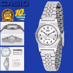Casio Analog Watch - Jam Tangan Wanita - Silver - Strap Stainless Steel - LQ-333(One size)