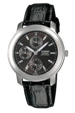 Casio Analog Watch MTP-1192E-1ADF - Jam Tangan Pria - Tali Kulit Hitam