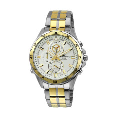 Casio Casio Watch Promo Edifice Silver Stainless-Steel Case Two-Tone-Stainless-Steel Bracelet Mens NWT + Warranty EFR-547SG-7A9