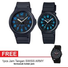 Casio Couple Watch Jam Tangan Couple - Hitam - Strap Karet - Sporty Couple