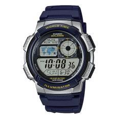 Casio Digital Jam Tangan Pria - Biru - Strap Karet - AE-1000W-2A