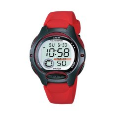 Casio Digital Jam Tangan Wanita - Merah - Strap Karet - LW-200-4A