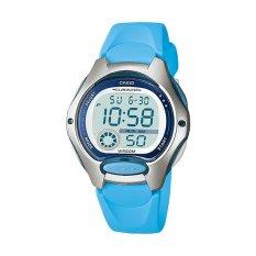 Casio Digital LW-200-2BV Sports Women's Watch - Sky Blue / Silver