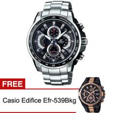 Casio Edifice Jam Tangan Pria Efr-560D-1Av FREE Casio Edifice Efr-539Bkg - Silver Black
