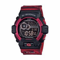 Casio G-SHOCK G-Shock GLS-8900CM-4DR Red Camo Jam Tangan Pria (Red)