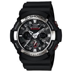 CASIO G-Shock GA-200-1ADR - Jam Tangan Original Sport Formal Fashion Kasual Pria Cowok Laki Laki G-Shock Model Terbaru Murah Mewah Simple Keren Elegan Sporty Original Analog Digital Dual Time Rubber Casio G-Shock GA-200-1ADR [Black]
