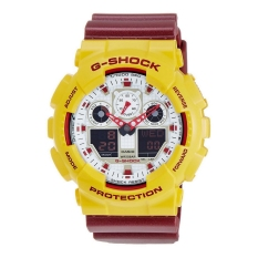 Casio G-Shock Men's Maroon Resin Strap Watch GA-100CS-9ADR