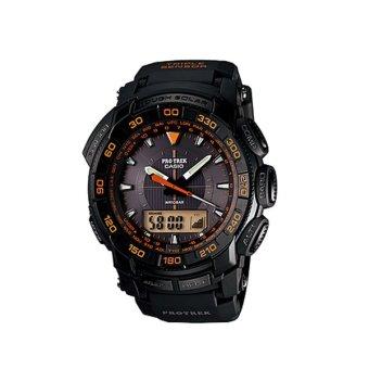 Casio Jam Tangan Pria Protrek PRG-550-1A4DR - Hitam Orange