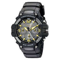 Casio Men's MCW-100H-9AVCF Heavy Duty-Design Chronograph Black Watch (Intl)