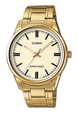 Casio MTP-V005G-9AUDF Men's Standard Analog Gold Tone Gold Dial 3-Hand Analog Watch