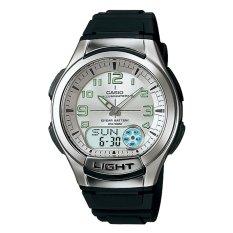 Casio Standard - Jam Tangan Pria - Hitam - Karet - AQ-180W-7BV