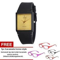 Casio Unisex Watch Jam Tangan Unisex - Hitam - Strap Karet - MQ-38-9ADF + 1pc Kacamata Korea Style Dengan Warna Random Termasuk Kotak Kacamata Dan Lap Kacamata (Black)