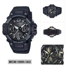Casio Watch Standard Black Resin Case Resin Strap Mens NWT + Warranty MCW-100H-1A3