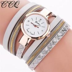 CCQ 2016 New Fashion Leather Bracelet Watches Casual Women Wristwatch Luxury Brand Quartz Watch Relogio Feminino Gift C39(Grey)