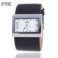 CCQ Brand Fashion Leather Strap Watch Ladies Women Dress Watch Luxury Casual Quartz Watch Relogios Feminino 1859(Black)