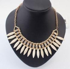 Chain Pendant Crystal Choker Chunky Statement Bib Necklace Fashion Charm Jewelry - Intl