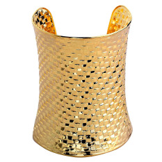 Charm Gold Plated Jewelry Bracelet Latticed Carved Alloy Cuff Bangle Fashion Hot