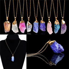 Charm Natural Crystal Quartz Stone Gemstone Pendant Womens Irregular Necklace Color9 - Intl