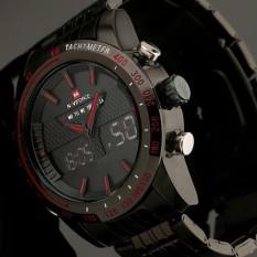 Chrono Stopwatch Alarm Clock Men Full Steel LED Digital Watch Men Quartz Army Military Watches Sport Watch - Intl